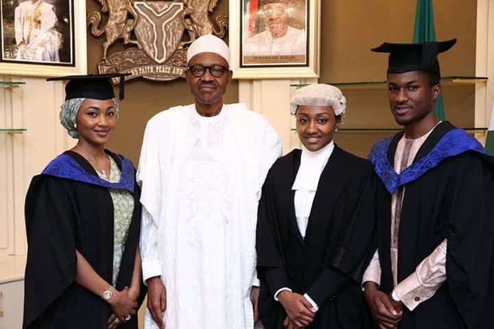 President Buhari &Children